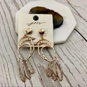 Jewelry - Parrot bird cutout tropical statement earrings
